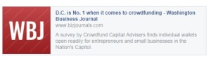 D.C is No. 1 when it comes to crowdfunding - Washington Business Journal