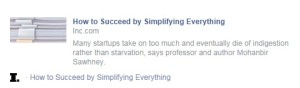 How to Succeed by Simplifying Everything