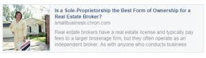 Is a Sole Proprietorship the Best From of Ownership for a Real Estate Broker