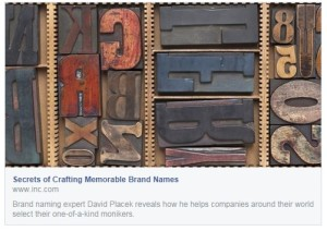 Secrets of Crafting Memorable Brand Names